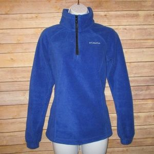 Columbia Womens Small 3/4 Zip Pullover Blue